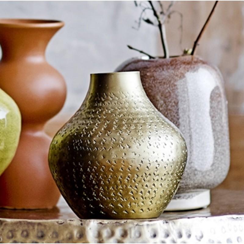 Vase m/ mønster Messing - Bloomingville