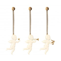 Engel ornament m/ sølv snor- Maileg - hvid, vælg ml. 3 forsk.