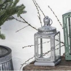 Lanterne grå m/ blank finish - Ib Laursen