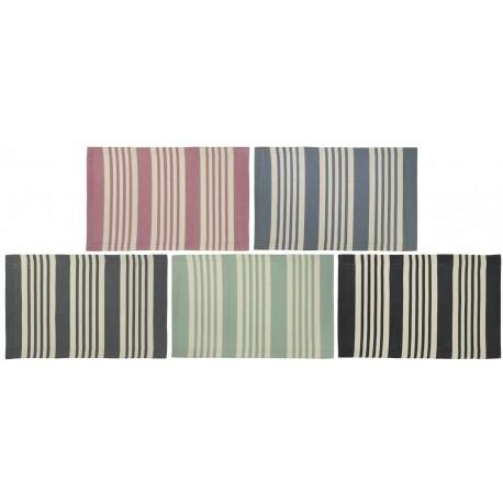 Plastik Måtte stribet - Ib Laursen - vælg ml. 4 farver 60x90 Ta' 3 for kr. 100,-