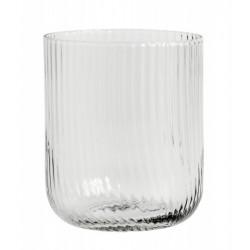 Vandglas m/ riller - Klar - Nordal