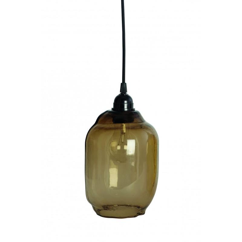 """Lampe, lille m/ røgfarvet glasskærm - house doctor """"goal"""""""