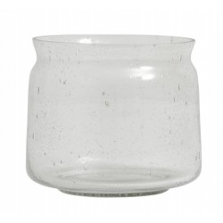 "Vase ""Bubbly"" klart glas - Nordal - Lille"