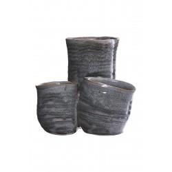 Vase / skjuler 3 i én, grå keramik - House Doctor