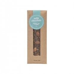 Lys Chokolade m/ karamel, salt & mandler - Nicolas Vahé