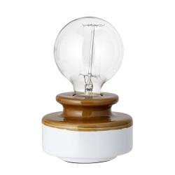 Bordlampe Brun/Hvid - Bloomingville