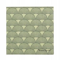 Servietter grøn m/ mønster - Bloomingville