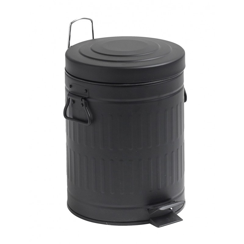 Pedalspand - sort - nordal - toiletspand 5 ltr.