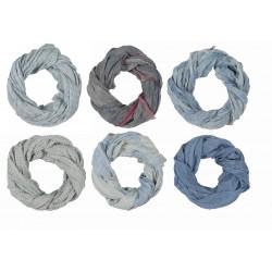 Tørklæde - Ib Laursen - blå - 6 forskellige