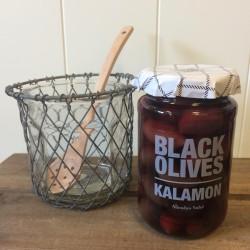 Pakke m/ Oliven, olivenske og glas m/ zinkskjuler
