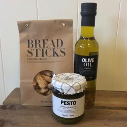 Pakke m/ Olivenolie, Breadsticks, Pesto - Nicolas Vahé