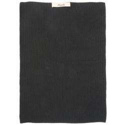 Håndklæde, sort - strikket - Ib Laursen