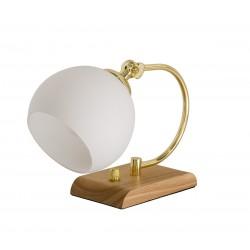 Bordlampe - Bloomingville m/ træfod - hvid skærm