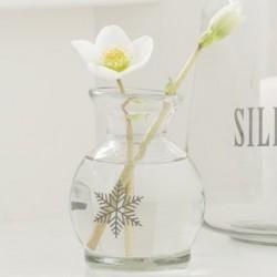 Vase m/ snekrystal - Ib Laursen - Mundblæst