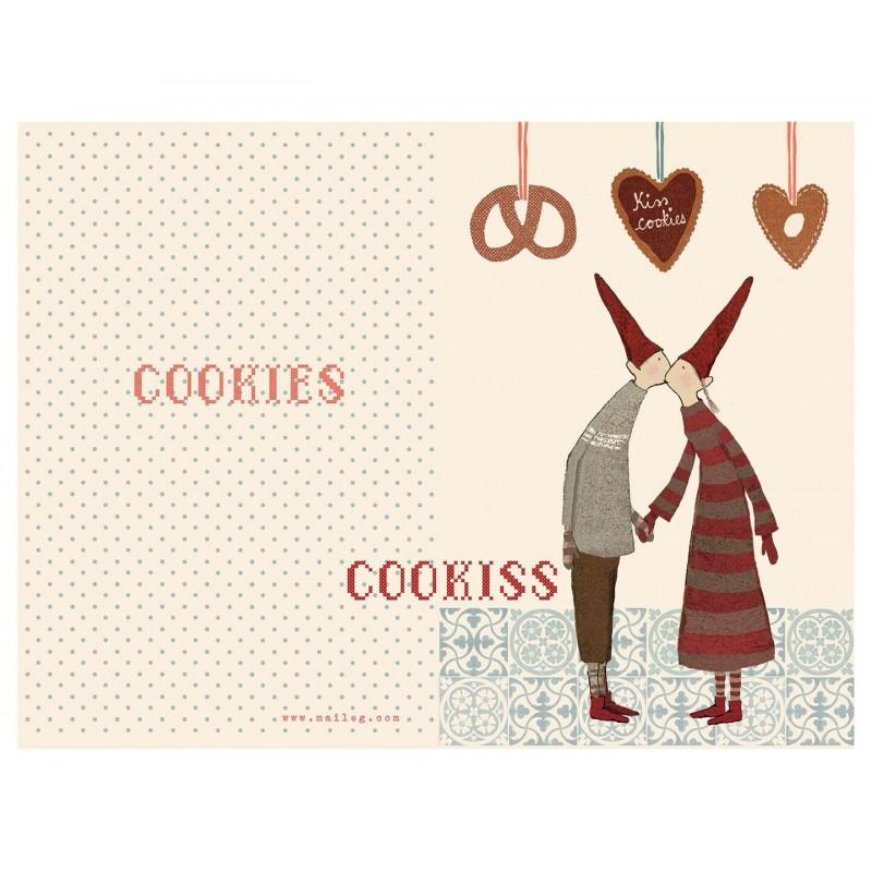 "Maileg - dobbelt kort ""coo-kiss"""
