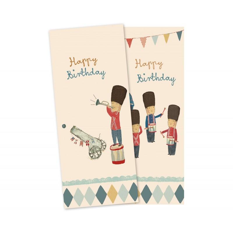 Servietter soldat fødselsdag - maileg