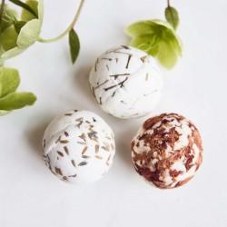 Sæbe bolde, shea butter, assoteret 3 dufte, lavendel/citrongræs/rose, 45 g