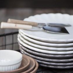 Tallerken frokost Butter cream - Ib Laursen - creme hvid
